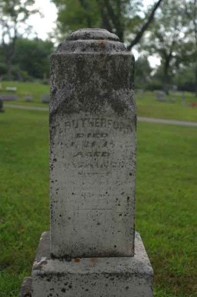 Headstone of Thomas Rutherford